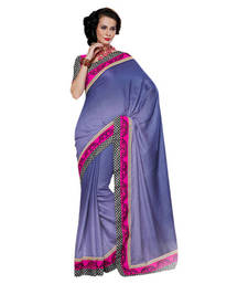 Buy Hypnotex Purple Viscose Saree Indian102 party-wear-saree online