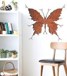 Buy Break Wall Bricks 3D Butterfly' Wall Sticker (60 cm X 60 cm) wall-decal online