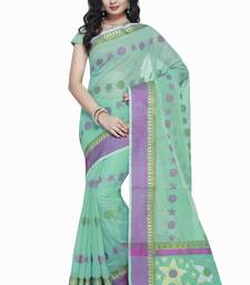 Buy Green embroidered silk saree with blouse kota-silk-saree online