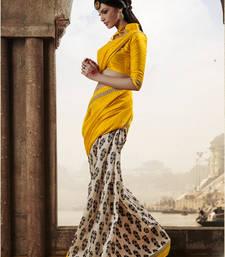 Buy Strollay Saree with unstichted Blouse bhagalpuri-silk-saree online