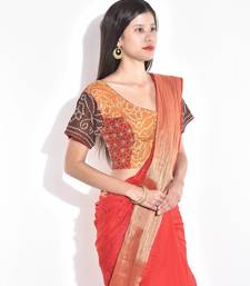 Buy Red cotton readymade blouse readymade-blouse online