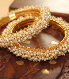 Buy White pearl bangles-and-bracelets bangles-and-bracelet online
