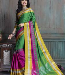 Buy Multicolor printed cotton silk saree with blouse bengali-saree online