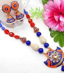 Buy Meenakari Ethnic Neck Ear Set 45 Necklace online