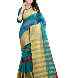 Buy Green woven jacquard saree with blouse jacquard-saree online