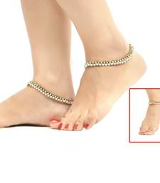 Buy Copper Ball Pearl Stone Work Anklets eid-jewellery online
