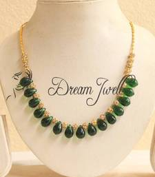 Buy BEAUTIFUL SEMI PRECIOUS GREEN BEADED NECKLACE  Necklace online