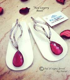 Buy Red Layery Baali  danglers-drop online