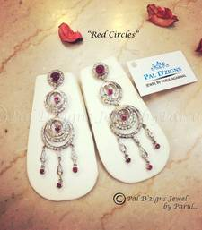 Buy Red Circles Earing danglers-drop online