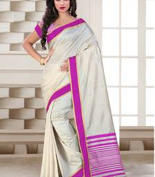 Buy pink printed tussar_silk saree With Blouse tussar-silk-saree online