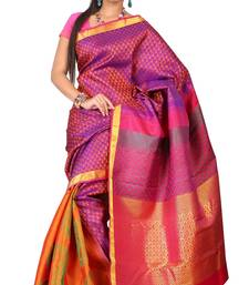 Buy Sudarshan silks Pure Silk  Kanjeevaram Hand woven Saree-Pink-Silk-JG30 silk-saree online