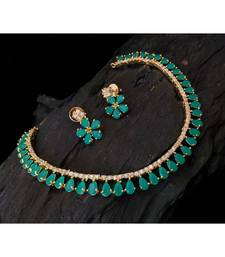 Buy Green Agate gold_plated necklace-sets necklace-set online