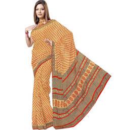 Buy Bagru Print Ethnic Kota Doria Pure Coton Sari 191 cotton-saree online
