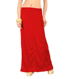 Ziya Red Pure Satin Petticoat shop online