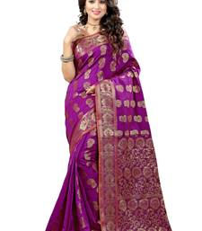 Buy Pink woven banarasi saree with blouse banarasi-saree online