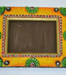 Buy HANDMADE PHOTO FRAME IN RACTANGLE SHAPE MADE OF WOOD AND PAPERMASHY WORK other-home-accessory online