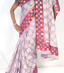 Buy Designer supernet chanderi fancy saree supernet-saree online