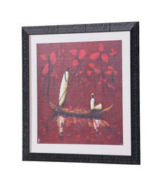 Buy 18 Inch X 18 Inch Abstract Art Print | Textured Frame | Home D  co... painting online