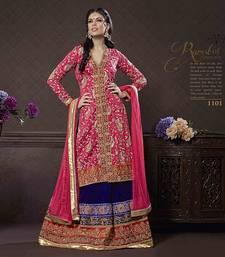 Buy Elegant crepe long choli lehenga eid-sarees-dress online