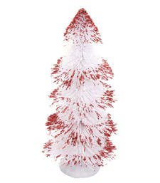 Buy Cute White with Maroon Spread Decorative Christmas Tree christmas-decoration online