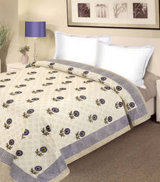 Buy Indigo Bloom Pure Cotton Double Duvet Cover duvet-cover online