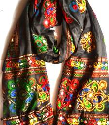 Buy Black  cotton stole and dupattas stole-and-dupatta online