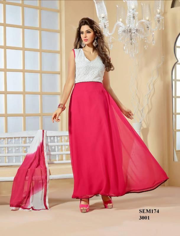 Buy american crepe light pink designer anarkali suit online