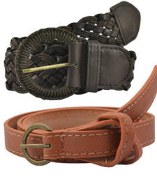 "Buy "" Black and Brown Color"" Belt Combo For Womens gifts-for-sister online"