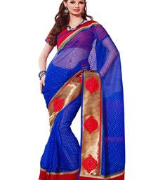 Blue Thousand Butti Art Kora Exclusive Designer Saree shop online