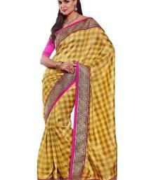 Buy Yellow Art Silk Exclusive Partywear Saree art-silk-saree online