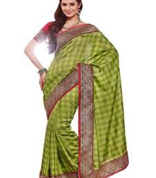 Buy Green Art Silk Exclusive Partywear Saree art-silk-saree online