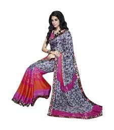 Buy Vishal Grey Satin Saree HiddenSecret32919 party-wear-saree online