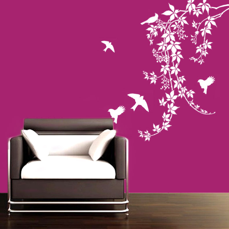 Buy birds on vines wall decal online for Wall designer online
