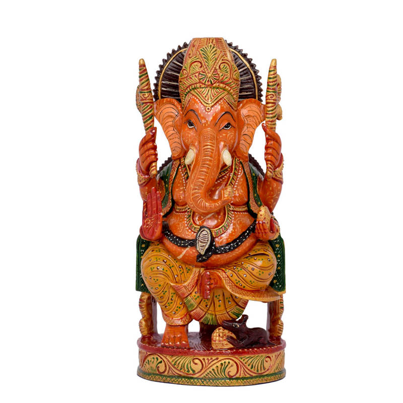 Buy brown color good luck ganesh statue for home decor for Good luck home decor
