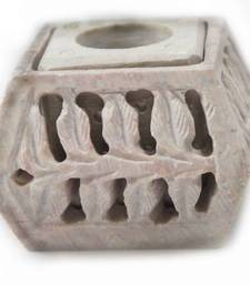 Buy Carved stone candle and incense stand  candle online