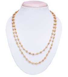 Buy Gold plated double line necklace Necklace online