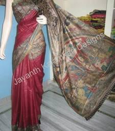 Buy Hand painted pen kalamkari saree kalamkari-saree online