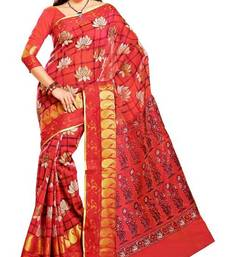 Buy Cotton Saree in Red. 6403 L. Muhenera Office Wear collection. printed-saree online