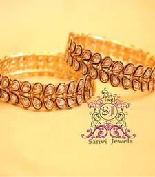 Buy Antique Zircon Openable Bangles bangles-and-bracelet online