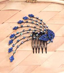 Buy Blue Twin Leaves Comb Clip  hair-pin online