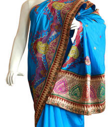 Buy Banarasi Art Silk Saree With Cut Work and Embroidery banarasi-silk-saree online