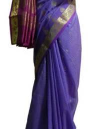 Buy Banarasi Art Silk Ink Blue Saree With Zari Work and Blouse banarasi-silk-saree online