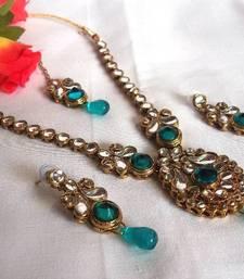 Buy Blue Drop  Kundan Necklace Set necklace-set online