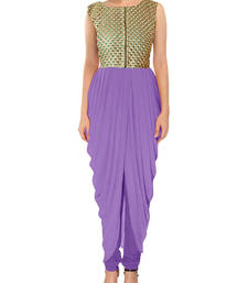Buy purple latest indian kameez dhoti style tunic indowestern online