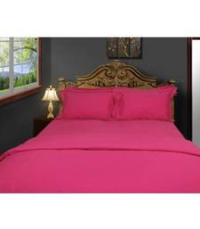 Buy Just Linen 200 TC Cotton Percale Solid Pink Flat Twin Bedsheet Set quilt online
