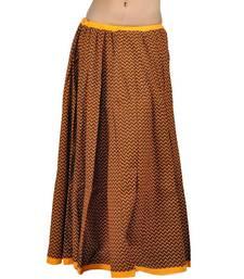 Buy Yellow Black Rajasthani Designer lehanga Skirt skirt online