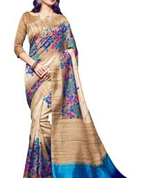 Buy Multicolor printed bhagalpuri saree with blouse printed-saree online