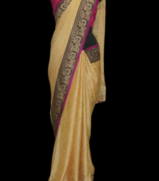 Buy BEIGE JUTE COTTON jacquard-saree online