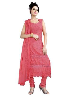 Buy Karachi Georgette Semi Stitched Salwar Kameez With