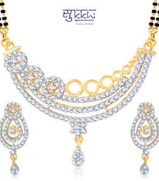 Sukkhi Beguilling Gold and Rhodium Plated Cubic Zirconia Stone Studded Mangalsutra Set(14007MSCZK2800) shop online
